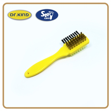 Plastic handle rubber PP brass hair suede nubuck shoe brush
