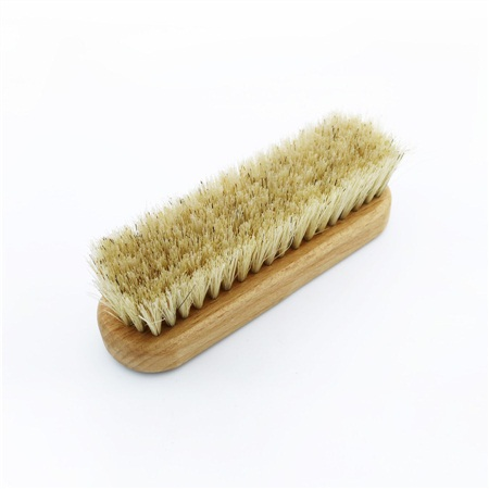 Wood pig hair bristle outdoor shoe brush