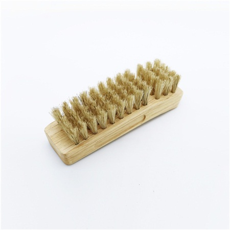 Wood handle bristle horse hair large shoe brush