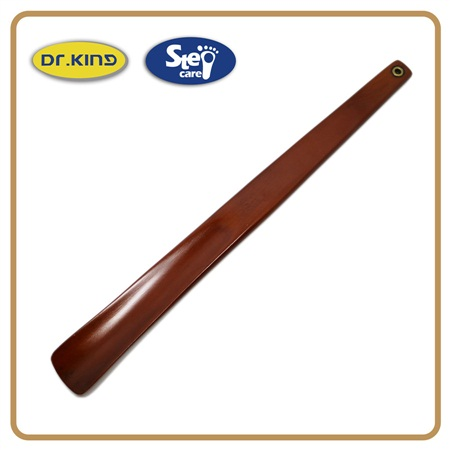 Wholesale high quality wooden long holder shoe horn