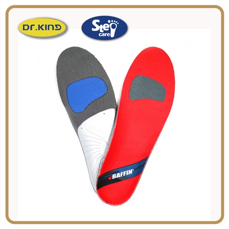 Shock absorption arch support increase height latex rubber sports insole